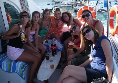 P1010270 Hen party on boat in Malaga